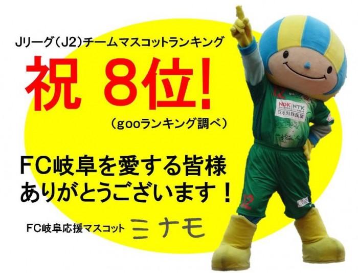 祝8位(FC岐阜ver)